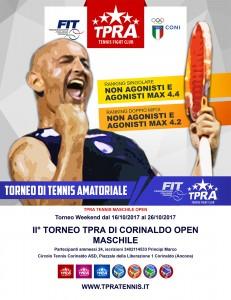 locandina torneo TPRA open maschile